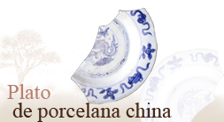 Plato de porcelana china